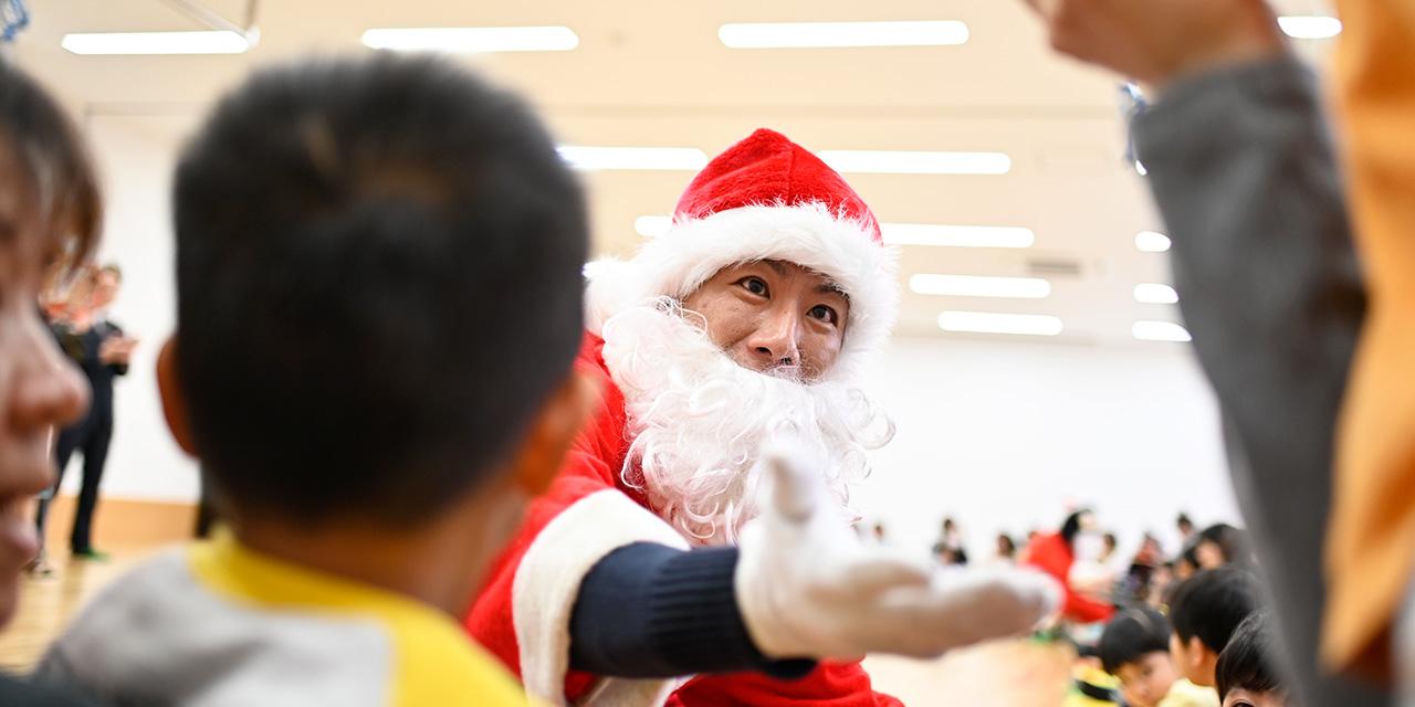 クリスマス施設訪問